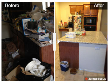 Hoarding Cleanup Before & After